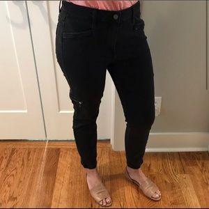PAIGE black denim ankle jeans